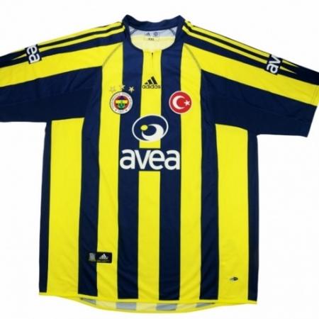Fenerbahce Shirt Thuis Gedragen door van Hooijdonk 2004-2005