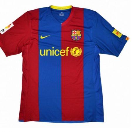Barcelona Shirt Thuis Gedragen door Gio Longsleeved 2006-2007