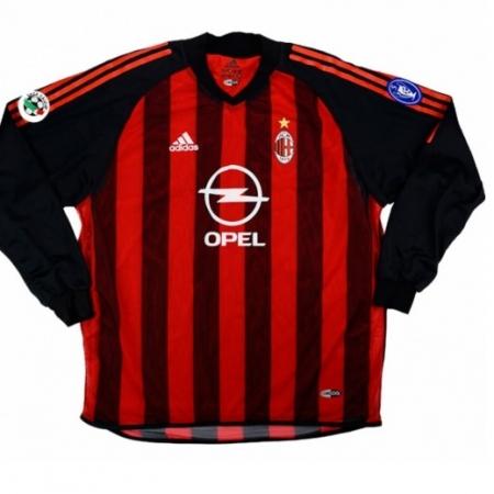 Ac Milan Shirt Thuis Gedragen door Seedorf Longsleeved 2002-2003