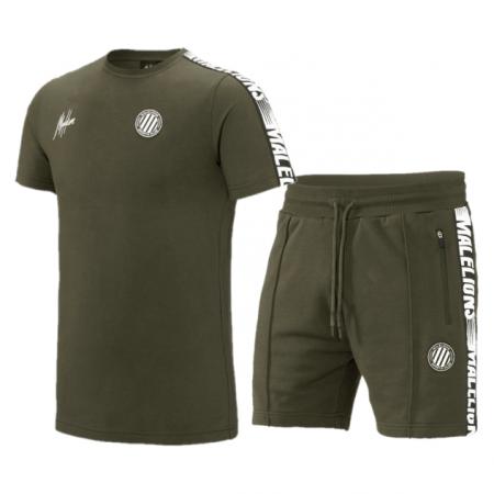 Malelions Sport Zomersetje Army/White