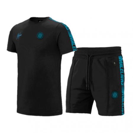 Malelions Sport Zomersetje Black/Blue