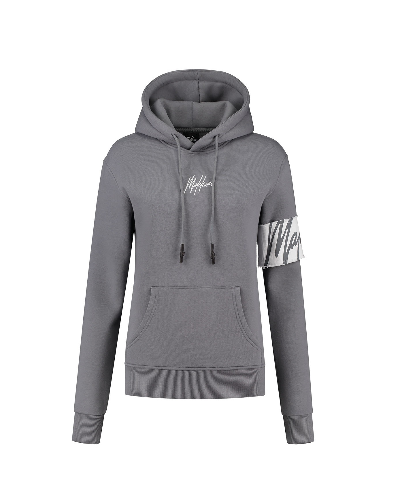 Malelions Captain Hoodie Dames Grey White