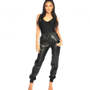 LA Sisters Snake Faux Leather Jogging Pants