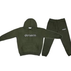 Ceasarss Oversized Hooded Trainingspak Khaki