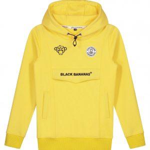 Black Bananas Anorak Hoodie Kids Yellow