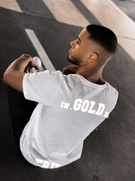In Gold We Trust Shirt White Content