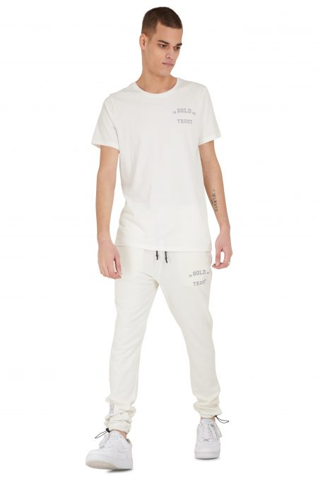 In Gold We Trust Reflective T-Shirt White Asylum2
