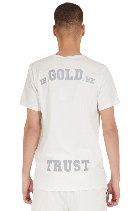 In Gold We Trust Reflective T-Shirt White Asylum1