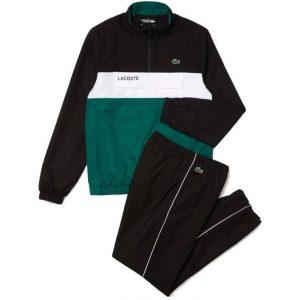 Lacoste-Sport-Trainingspak-Black-Green