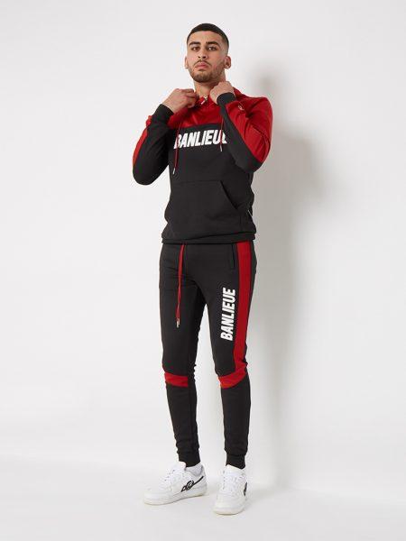 banlieue 3d-tracksuit-red-black 1