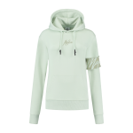 Malelions captain hoodie dames light sage green 3