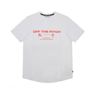 Off The Pitch Sage Tee White/Orange