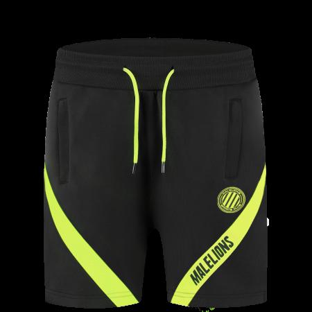 Malelions Black Neon Yellow Short