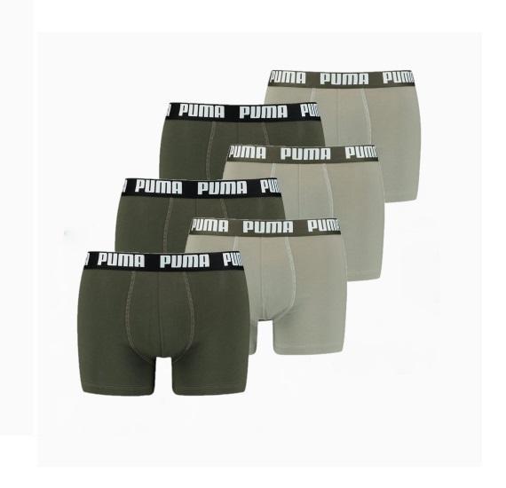 puma boxershort 6p dark green combo