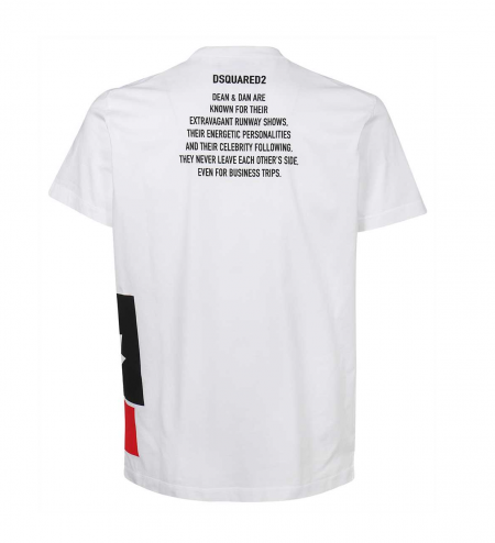 Dsquared Leaf T-Shirt White.png1