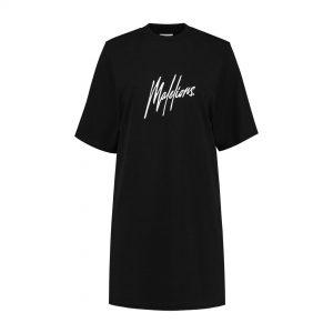 Malelions Dames Lou T-Shirt Dress Black/Pink
