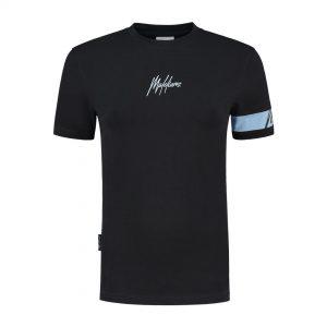 Malelions Dames Captain T-Shirt Antra/Light Blue