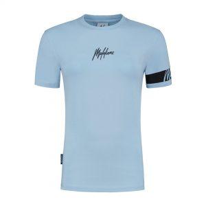 Malelions Dames Captain T-Shirt Light Blue/Antra