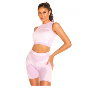 LA Sisters Cropped Knitted Sporty Two Piece Lila