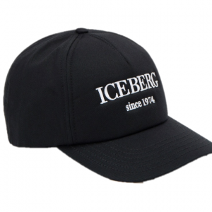 Iceberg Baseball Cap Black/White