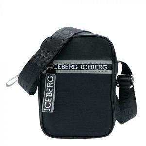 Iceberg Camera Bag Zip Logo Black
