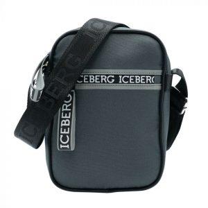 Iceberg Camera Bag Zip Logo Grey